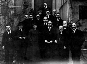 La direction sortante de l'USPD, élue lors du congrès de Leipzig (déc. 1919)